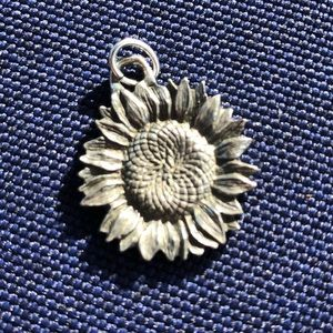 Danforth pewter sunflower pendant
